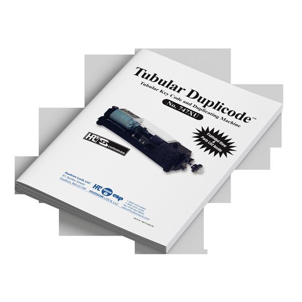747XU Tubular key cutting manual