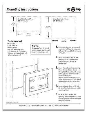 Installation Instructions for wall safe